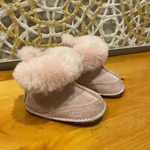 UGG Australia Boo Boot Pink Suede Infant Size Sm